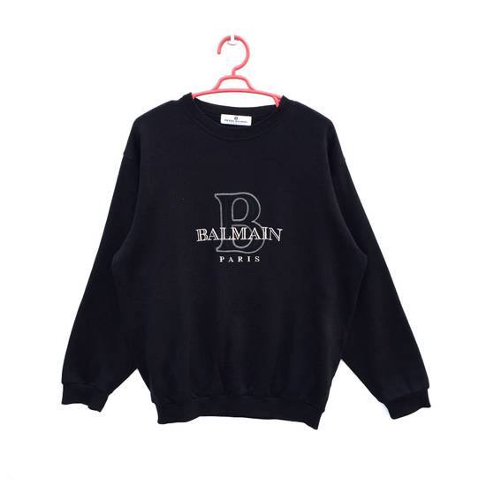 Balmain Authentic Luxury Balmain / Pierre Balmain Embroidery Big Logo Sweastshirt / Balmain Crewneck Pullover / NOT Amiri Yves Saint Laurent Visvim Chanel Gucci Size US L / EU 52-54 / 3