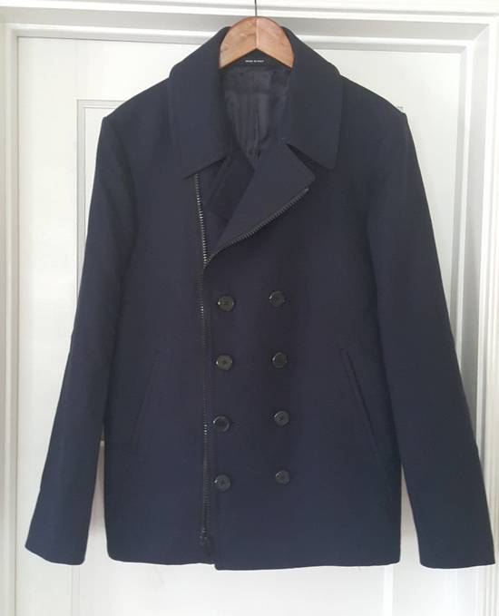 Givenchy Givenchy Navy Cotton Zipped Biker Peacoat Jacket Size 50 Size US M / EU 48-50 / 2