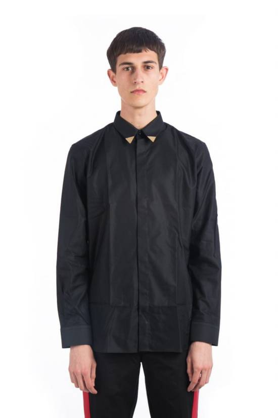 Givenchy Metallic Tipped Collar Shirt (Size - 40) Size US M / EU 48-50 / 2