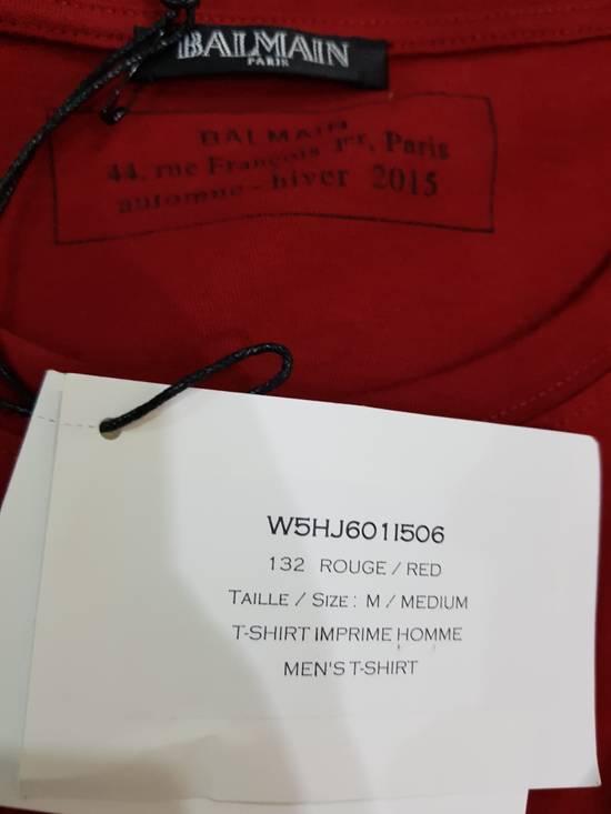 Balmain Red Balmain Logo T-Shirt Size US M / EU 48-50 / 2 - 5