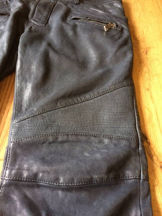 Balmain Balmain Grey Leather Mens Trousers Size US 34 / EU 50 - 4
