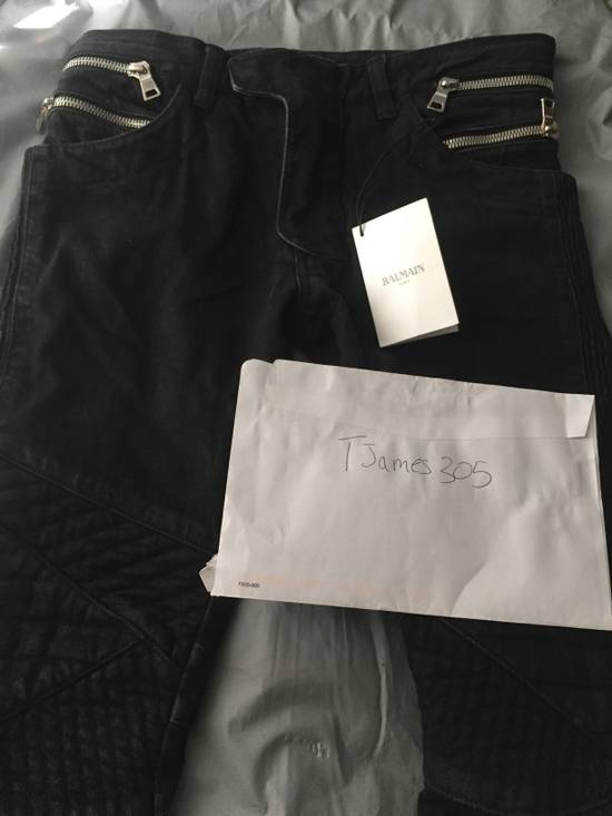 Balmain Balmain black coated biker size 28 Size US 28 / EU 44