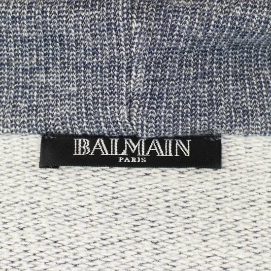 Balmain Men's Gray Cotton Blend Zip-Up Hooded Sweater Size XS Size US XS / EU 42 / 0 - 5
