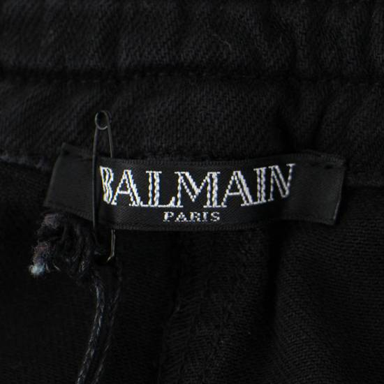 Balmain Black Cotton Blend Waxed Distressed Casual Pants Size Small Size US 32 / EU 48 - 6