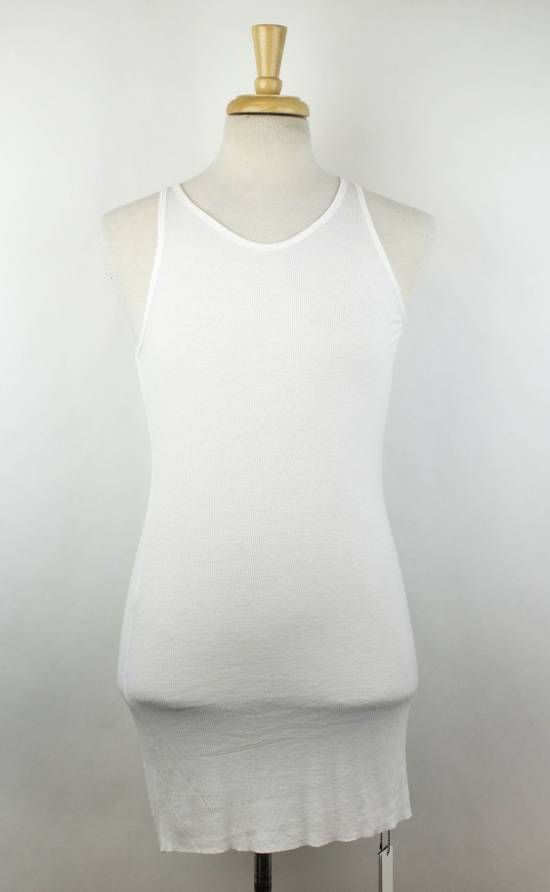 Julius 7 White Silk Blend Long Ribbed Tank Top T-Shirt Size 4/L Size US L / EU 52-54 / 3