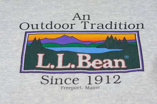 Vintage Vintage LL Bean Blue Spellout Embroidered Crewneck Sweatshirt Sweater Outdoor Size US M / EU 48-50 / 2 - 2