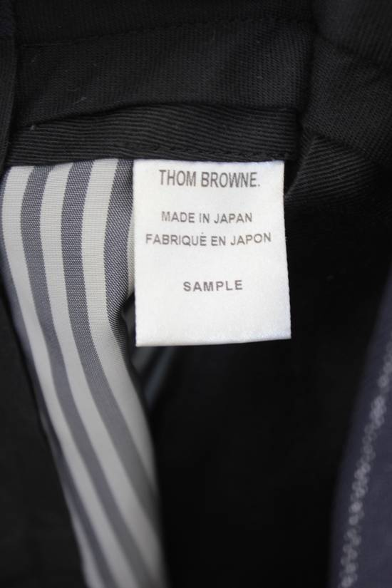 Thom Browne Classic High Waisted Navy Wool Pinstriped Pant Size 36R - 2