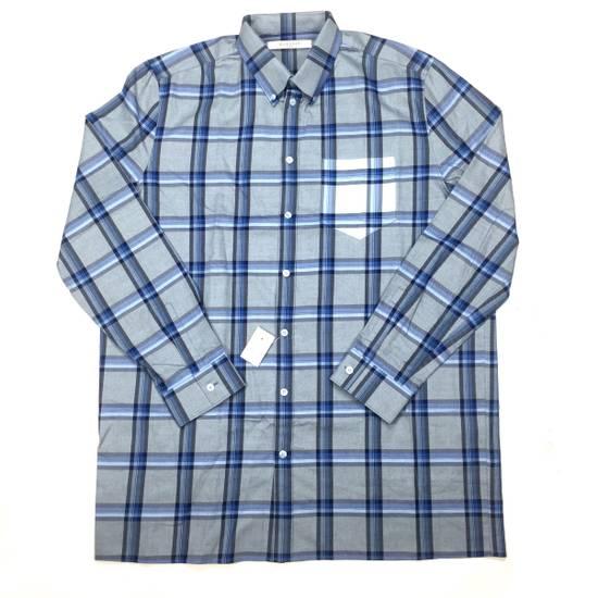 Givenchy Blue Cuban Fit Flannel Shirt NWT Size US M / EU 48-50 / 2