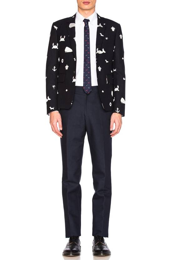 Thom Browne Size(s-m) Blazer In Blue, Tonal Multi Icon Fun Mix Size 38S - 4
