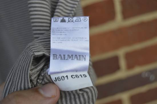 Balmain Distressed Striped T-shirt Size US M / EU 48-50 / 2 - 5