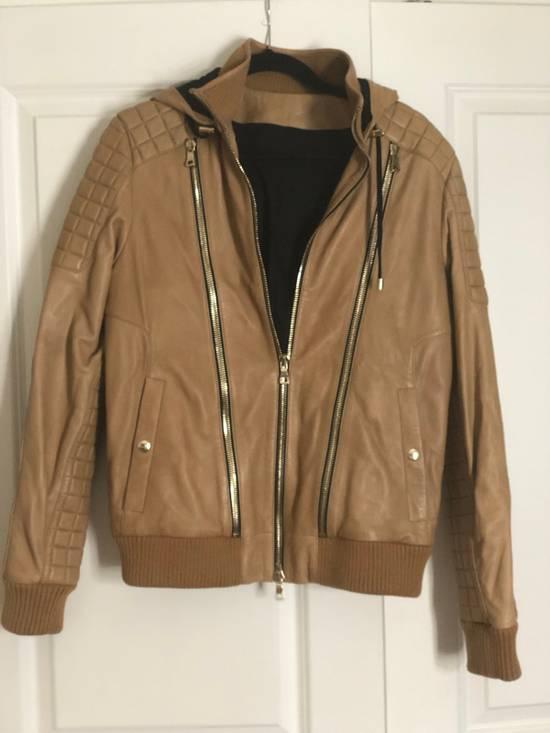 Balmain Brown Leather Jacket Size US M / EU 48-50 / 2 - 1