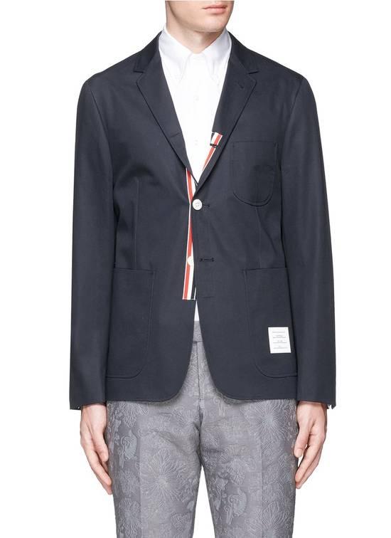Thom Browne Light Weight Cotton Twill Charcoal Blazer Size US XXL / EU 58 / 5