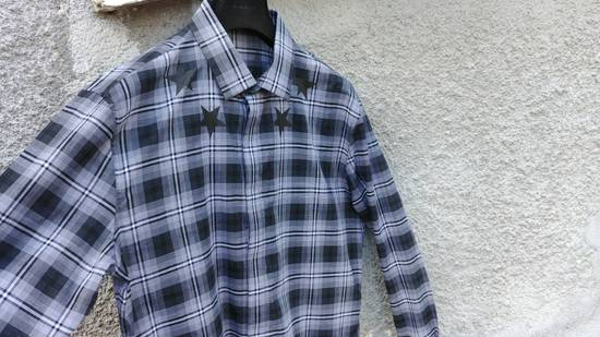 Givenchy $520 Givenchy Star Checked Rottweiler Shark Slim Fit Shirt size 44 (XL) Size US XL / EU 56 / 4 - 7