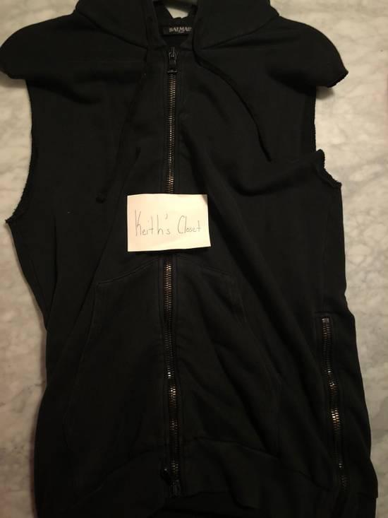 Balmain Balmain Black Sleeveless Hoodie Size US M / EU 48-50 / 2