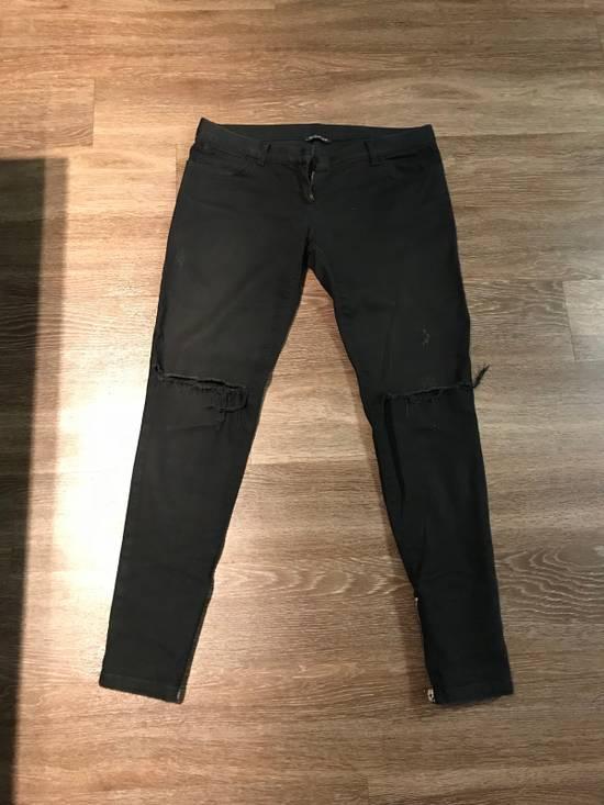 Balmain Rare Black Decarnin Zip Denim Size US 32 / EU 48