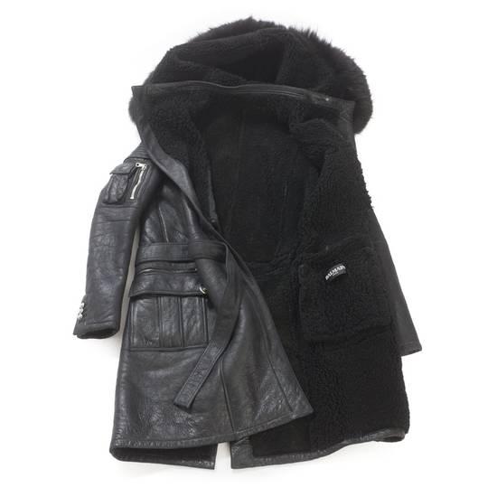 Balmain Balmain Leather Shearling Fur Parka Black Size Small 46-48 Coat Military Size US S / EU 44-46 / 1 - 5