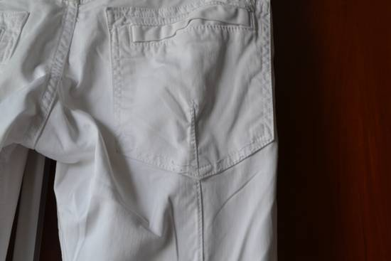Balmain white biker pant Size US 32 / EU 48 - 5