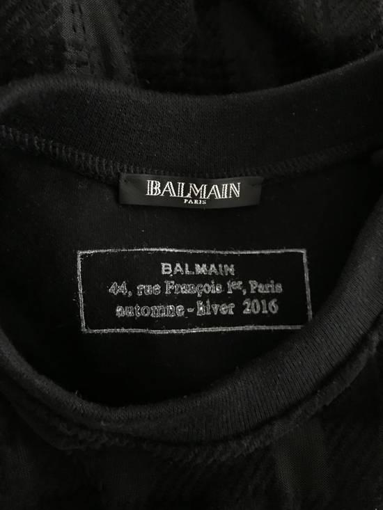 Balmain Size Small - Checked Button Shoulder Sweatshirt- FW16 - $1050 Retail Size US S / EU 44-46 / 1 - 3