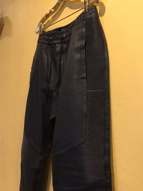 Balmain Slim Fit Biker Style Leather Sweatpants Size US 34 / EU 50 - 4