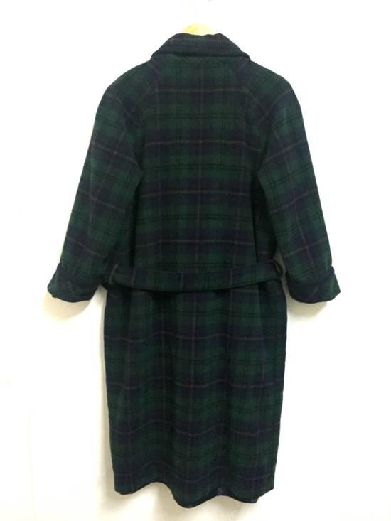 Balmain Vintage 90s Vent Vent PAR Pierre Balmain sleepwear wool plaid flannel in cupra lining japan. Size 38R - 1