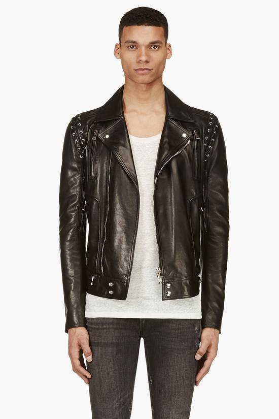 Balmain Sz 44 New Lambskin Biker Leather Jacket Size US XS / EU 42 / 0 - 2