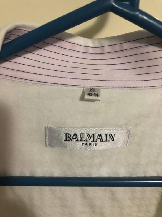 Balmain Classic Processed Cotton Shirt Size US XL / EU 56 / 4 - 5
