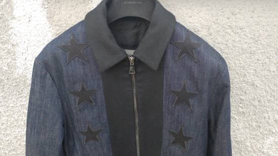 Givenchy Givenchy Star Applique Denim Wool Rottweiler Madonna Bomber Jacket size 48 (M) Size US M / EU 48-50 / 2 - 1