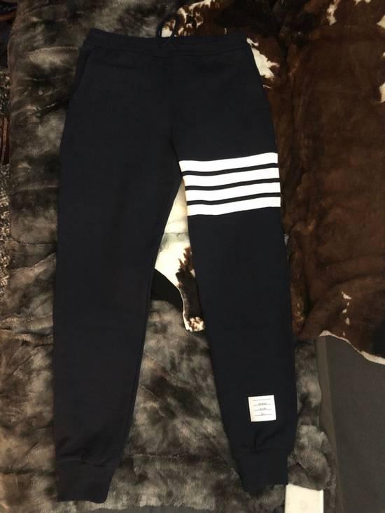 Thom Browne Navy Engineered 4 Bar Stripe Sweatpants Size US 32 / EU 48 - 2