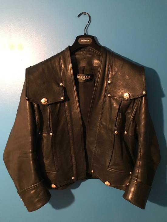 Balmain Lambskin Gold Button Detail Jacket Size US L / EU 52-54 / 3 - 1