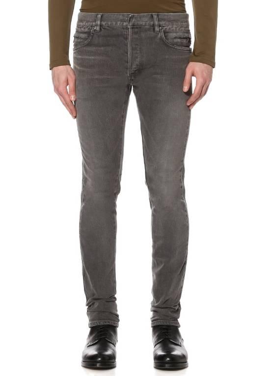 Balmain Grey Side Detail Jeans Size US 33