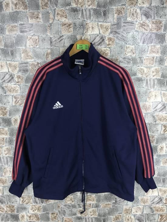 90b5c9c873ca Adidas ADIDAS Track Top Blue Jacket Large Vintage 90 s Adidas Equipment  Sportswear 3 Stripes Windbreaker Adidas ...