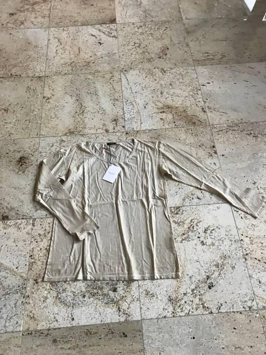 Balmain Distressed Khaki LS Tes Size US XL / EU 56 / 4 - 1
