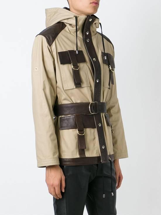 Balmain Leather and canvas hooded safari jacket Size US L / EU 52-54 / 3