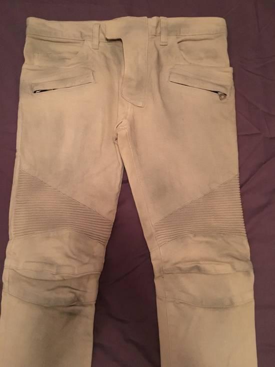 Balmain Biker Cotton Pants Size US 29 - 2