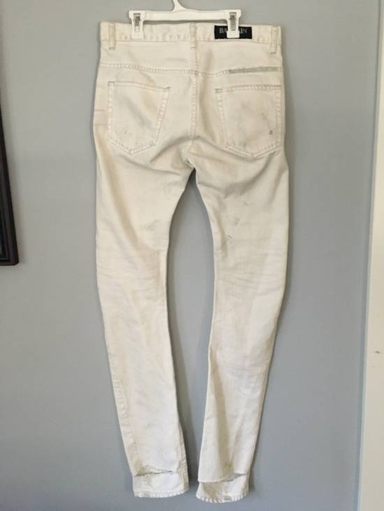 Balmain distressed white 16cm denim Size US 30 / EU 46