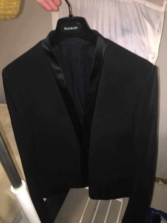 Balmain Black Tuxedo Blazer Size 50S - 7
