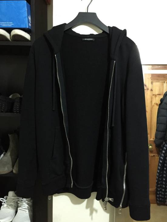 Balmain Black zip up hoodie Size US M / EU 48-50 / 2