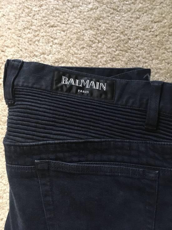 Balmain Black Bike Jeans Size US 32 / EU 48 - 1