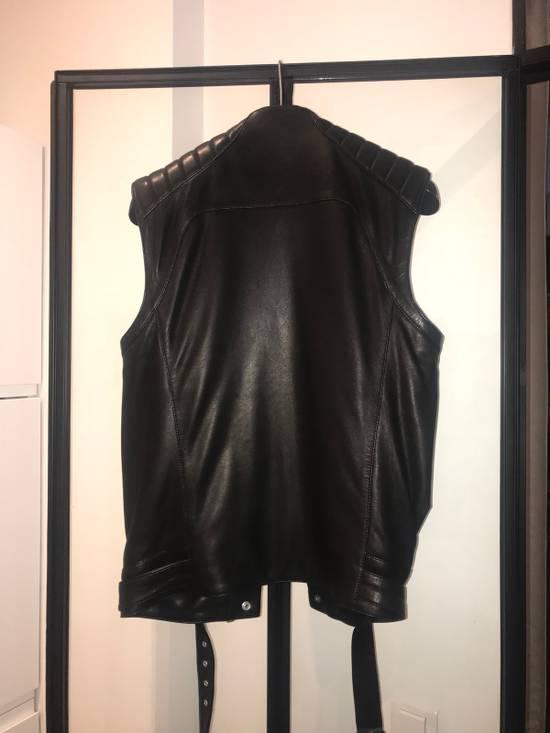 Balmain Leather Sleeveless Biker Jacket Size US M / EU 48-50 / 2 - 4
