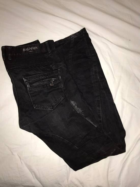 Balmain Black Distressed Balmain Denim Size US 30 / EU 46 - 1