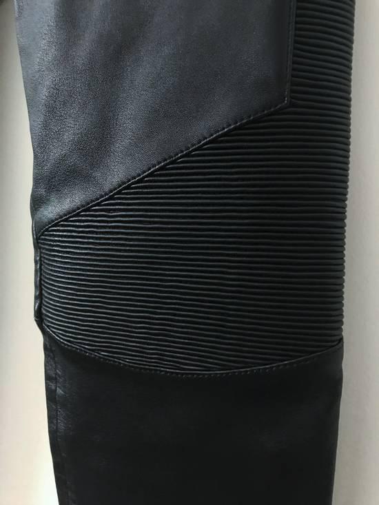 Balmain LAST DROP! Size M Fits S - Slim Fit Leather Ribbed Biker Style Sweatpants - $3100 Retail Size US 30 / EU 46 - 7