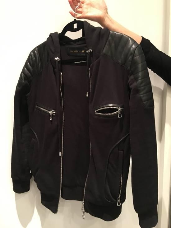 Balmain Leather Hoodie Size US M / EU 48-50 / 2