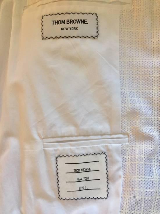 Thom Browne Thom Browne White Ribbed Zip-Up Jacket Size US S / EU 44-46 / 1 - 4