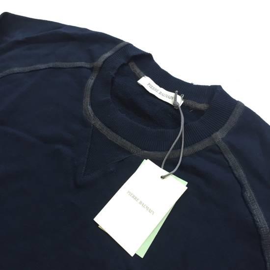 Balmain Distressed Navy French Terry Sweatshirt NWT Size US XL / EU 56 / 4 - 1