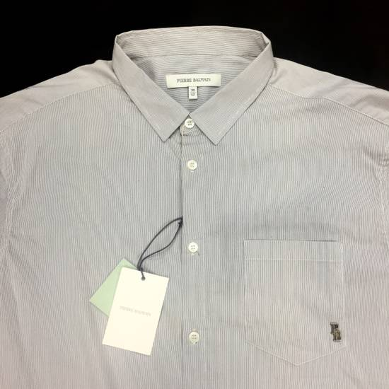 Balmain Fine Stripe Button Down Shirt NWT Size US L / EU 52-54 / 3 - 6
