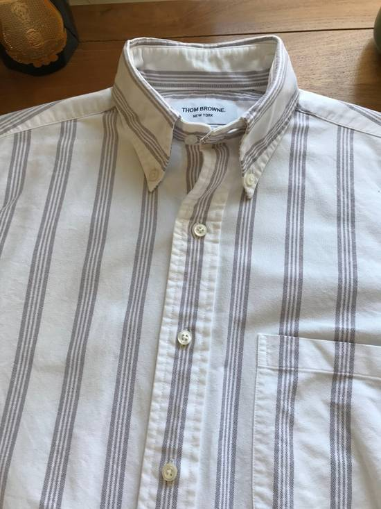 Thom Browne White Burgandy Stripe Oxford Size 1 Size US S / EU 44-46 / 1
