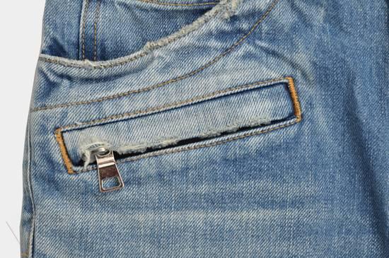Balmain Slim Signature Light Blue Biker Jeans Size US 29 - 6