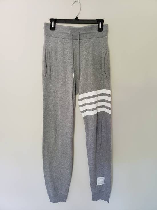 Thom Browne LAST DROP Grey 4-Stripe Engineered Joggers Size US 29