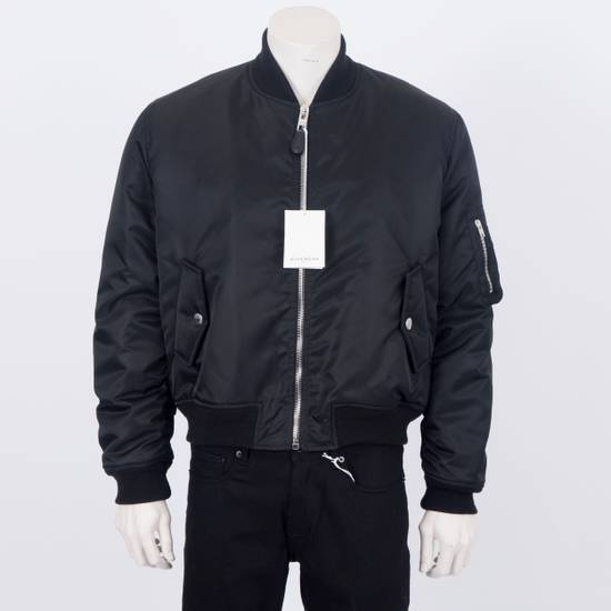 Givenchy 2550$ New Black Padded Nylon Illuminati Patch Bomber Jacket Size US L / EU 52-54 / 3 - 1