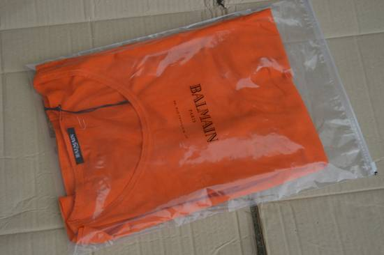 Balmain Orange Distressed T-shirt Size US M / EU 48-50 / 2 - 6